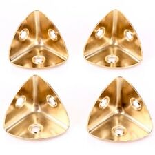4x Brass CASE CORNERS Gold Angle Brace Bracket 28mm Furniture Trunk Edge Covers