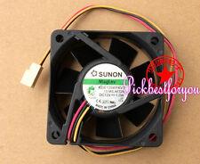 1Pcs SUNON KDE1206PKV3 12V 1.0W 6020 6CM cooling fan 3pin #MG45 QL