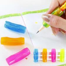 4Pcs Pencil Grip Child Kid Handwriting Aid Tool Soft Rubber Pen Topper Random
