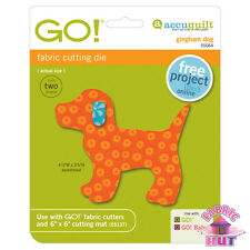 55064 - AccuQuilt GO! Big & Baby Gingham Dog Fabric Cutting Die Classic Quilting