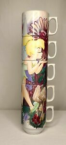 Rare Authentic Original Disney Theme Park Stackable Tinkebell Coffee Cup Set