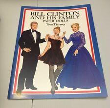 Bill Clinton Family Paper Doll Book Tom Tierney UNUSED Dover USA