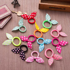10Pcs Girls Hair Accessories Ribbon Dot Gum Headband Elastic Ring Rubber Rope