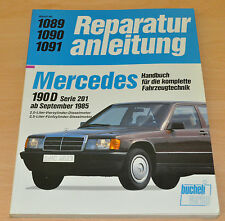 MERCEDES 190 Diesel ab September 1985 W201 Reparaturanleitung B1089 Handbuch