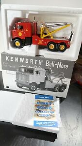 """1ST GEAR 1953 KENWORTH BULL NOSE TOW TRUCK """"SHELL ."""" 19-2557 BOXED"""