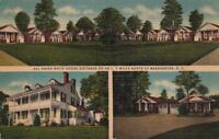Postcard Del Haven White House Cottages Washington DC