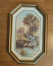 "Home Interiors Vintage Boy with Work Horses 22.5"" X 15"" (Going to water)"