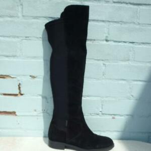 Carvela Suede Leather Boots UK 6 Eur 39 Womens Pull on Elasticated Black Boots