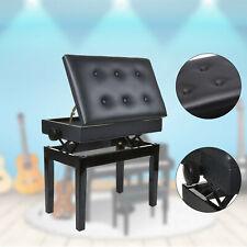 Klavierbank-Sitz-Hocker- KL10,schwarz-hochglanz,höhenverstellbar,mit Notenfach