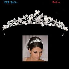 Wedding Bridal Crystal Rhinestone Crown Comb Tiara Hair Band Flower Gift S8C11