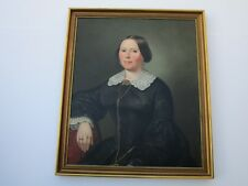ANTIQUE MASTER PORTRAIT PAINTING  WOMAN FEMALE MODEL   19TH CENTURY ESTATE ART