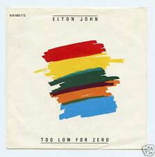 "Elton John/Too Low For Zero + 1  (West Germany/45 RPM 7"" Vinyl Record)"