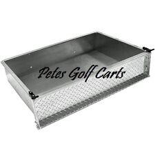 Universal Golf Cart Aluminum Diamond Plate Cargo Box Only Club Car Ezgo Yamaha