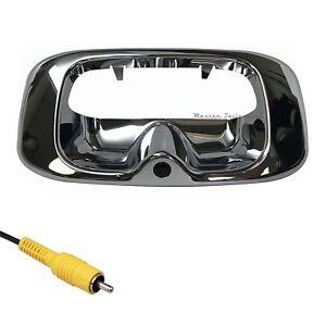 For Chevrolet Silverado/GMC Sierra (99-06) Chrome Tailgate Handle Backup Camera