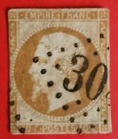 Timbre : EMPIRE NON DENTELE N° 13 - I OBLIT.(TB 735-1) Bistre-orange