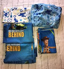 Disney Pixar Toy Story 3 Piece Toddler Bed Sheet Set With Curtains Gift