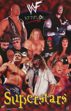 POSTER : WWF SUPERSTARS COLLAGE - AUSTIN , ETC.  -  FREE SHIPPING ! #3457 RBW1 W