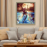 DIY Mermaid DIY Paint By Numbers Kit Oil Painting On Canvas Wall Decor Charm