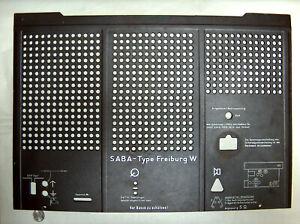 VTG 1950-51 SABA Tube Radio Freiburg W OEM Access Panel Cover Door Plate Germany