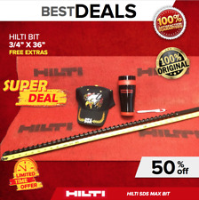 "Hilti Te-F Drill Bit 3/4"" X 36�, New, Free Mug, Hat, Pen, Fast Shipping"
