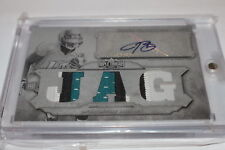 2012 Topps Triple Threads Auto Relics Printing Plates Justin Blackmon PATCH 1/1