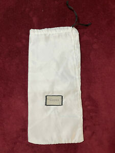 Authentic Gucci Dust Bag WHITE ~ 8inx17in for shoes, belts, bags etc