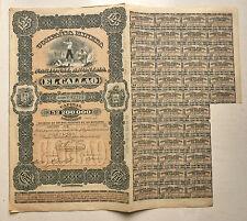PEROU # ACTION PERUVIENE COMPANIA MINERA NACIONAL ANONIMA EL GALLAO DE 1887
