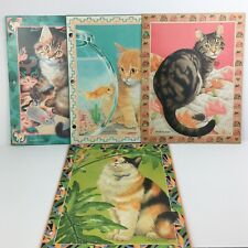 Vtg 90s Sophisticats Kitten School Folder Lot of 4 Mead Portfolio Vivian Boswell