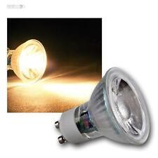 10 x GU10 LAMPADA LED, 5W COB BIANCO CALDO 400LM, Faretto a pera Riflettore
