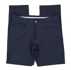Footjoy FJ Athletic Fit 5-Pocket Performance Golf Pants - Blue Men's Sz 34 X 32