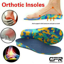 Orthotic Insoles Arch Support Plantar Fasciitis Flat Kids Feet Back & Heel Pain