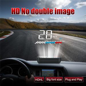 OBD2 Car GPS HUD Head Up Display Overspeed Warning System Speed Meter Projector