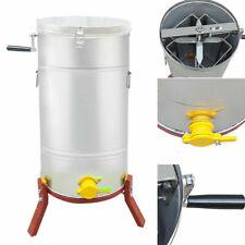 Stainless Steel 4 Frame Honey Extractor Spinner Beekeeping Crank Handle Manual