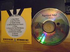 RARE ADVANCE PROMO Against Me! CD New Wave punk TEGAN QUIN & sara transgender !