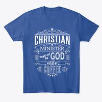 Christian Minister, Coffee Lover Premium Tee T-Shirt
