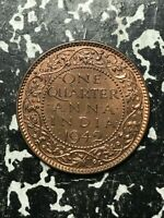 1942 India 1/4 Anna Lot#L357 High Grade! Beautiful!