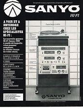 PUBLICITE ADVERTISING 044   1979    SANYO   hi-fi  tuner ampli chaine