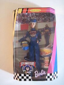 Barbie Doll, Nascar Barbie 50th Anniversary Edition! NIB!  stock car