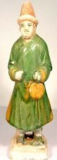 Antique 15thC Ming China Glazed MultiColor LG Sancai Statuette Musician w/Cymbal