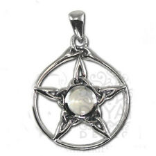Dryad Designs Sterling Triquetra Pentacle Pendant w/ Moonstone by Paul Borda