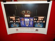 PRINT - BAMA'S FIRST WIN AT JORDAN-HARE STADIUM - VICTORY ON THE PLAINS 1999