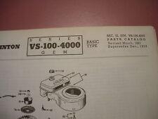clinton parts list,clinton vs-100-4000 illustrated antique clinton engine