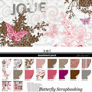 Pink & Brown Chocalate Collection Pack 12X12 Scrapbooking Kit 28 Sheets NEW