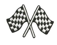 Check Checkered Flag Racing Embroidered Iron on Patches