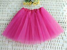 Women Girl Pretty Elastic Stretchy Tulle Dress Teen 3 Layer Adult Tutu Skirt E