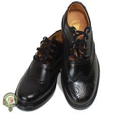 Ghillie Brogues Black Leather Ghillie Brogues Scottish Kilt Shoes UK Sizes 6-12