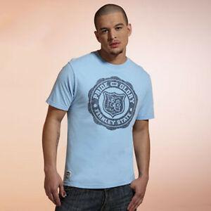 Premium College Heritage Outfitters Sky Blue Size Small T-Shirt Smart Casual Tee