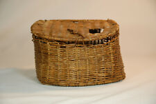 Vintage Old Fly Trout Fishing Wicker Creel Basket