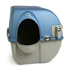 Self Cleaning Automatic Cat Litter Box Pet Kitty Waste Bin Pan Pewter Toilet