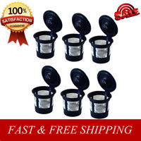 Reusable Refillable K-Cup Coffee Filter Pod 6PCS for Keurig K50&K55 Coffee Maker